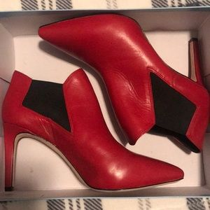 Antonio Melani LARA Lorenz Red Stiletto Booties